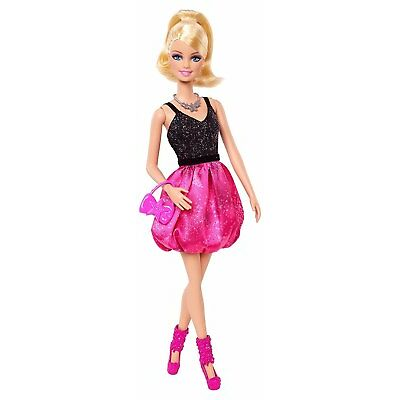 Barbie Fashionista Party Glam Barbie Doll, Pink and Black Dress - FREE SHIPPING