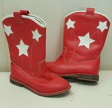 Old Navy Toddler 8 Cowboy Boots Red White Stars Costume Girls