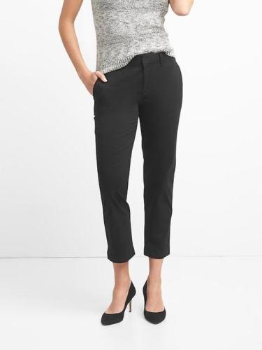 Gap Women/'s Black Slim City Crop Chinos Size 12