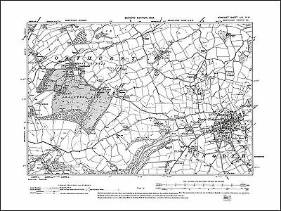 Long Sutton Knole old map Somerset 1904: 73SW repro Long Load
