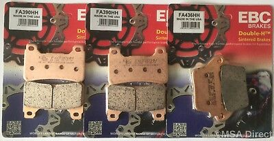 2x Sets SINTERED FRONT BRAKE PADS for HONDA CBR1000 RR FIREBLADE 2006 CBR1000RR