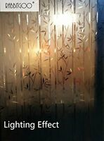 3d Static Privacy Stained Glass Bamboo Door Window Film Heat Control Easy Remove