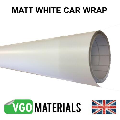 VGOltd White Matt Wrap Air Release Bubble Free Car Motorbike Van 152cm x 85cm