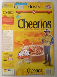 empty cheerios cereal box richard petty 2001 general mills 15 oz