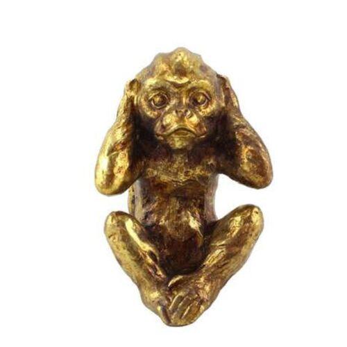 MND Brand New Style Gift Idea Evil Resin Monkey Ornament Gold Foil Colourway