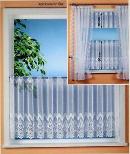 Gardinen-Vorhang-Scheibengardine-weiss-neu-Typ120