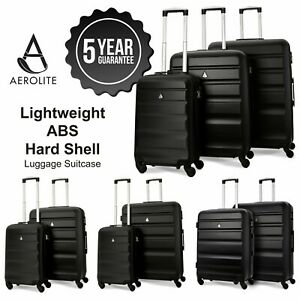 Aerolite-Black-ABS-Hard-Shell-Hand-Cabin-Hold-Check-In-Luggage-Suitcase