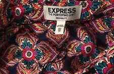 New EXPRESS $65 Original Fit Floral Medallion Print Portofino Shirt Blouse XS