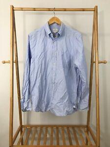 J-Crew-Men-039-s-Long-Sleeve-Button-Down-Blue-Shirt-Size-M