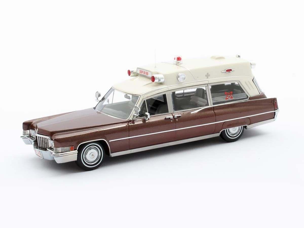 Cadillac superior 51 krankenwagen 1970 braun   Weiß mx20301-193 matrix 1 43 neu