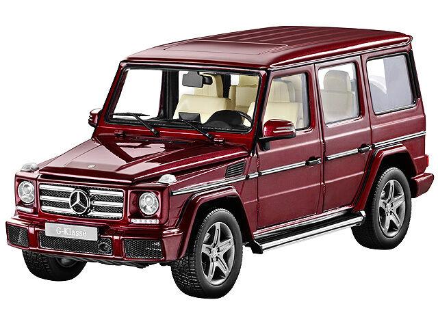 Mercedes - benz g-model g500 w463 thulitrot traf.18 - sammlermodell iscale