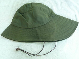 80ff2ee7f39a2 BARBOUR- D565 SOU WESTER WAXED COTTON HAT- SAGE- MADE IN ENGLAND ...
