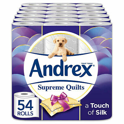 Andrex Supreme Quilts Toilet Tissue, 54 Rolls