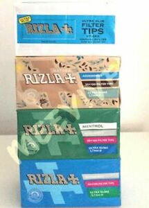 RIZLA-SMOKING-FILTER-TIPS-ULTRA-SLIM-MENTHOL-NATURA-BLUE-PACK-WHITE-LACK-GENUINE
