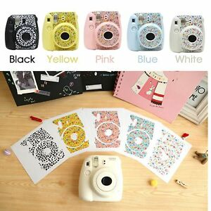 cute floral stickers decoration polaroid fuji film instax mini 8 camera fujifilm ebay. Black Bedroom Furniture Sets. Home Design Ideas