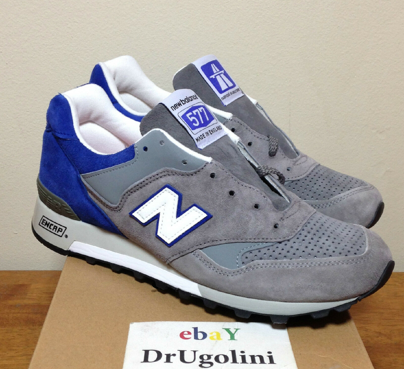 NEW BALANCE X THE GOOD WILL OUT M577GWO1 9-13 BLUE GREY DAY DRIVER AUTOBAHN 577