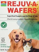 Sun Chlorella Rejuv-a-wafers 60 Wafers (2 Pack), New, Free Shipping