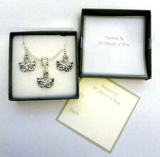Inspired by 50 Shades of Grey Rhinestone Mask Necklace and Earring Set Gift Box