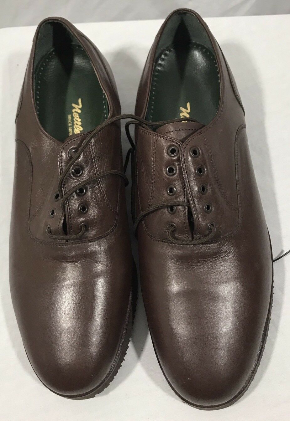 Nettleton Men's Brown Leather Lace Up Oxford shoes Size 10.5 D