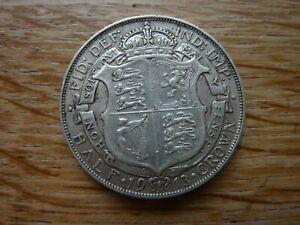 1913 Silver .925/1000 Half Crown George V (ref47J)