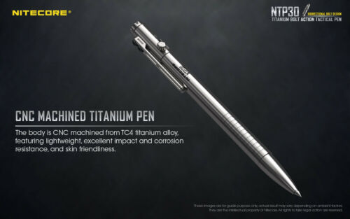 NiteCore NTP30 Titanium Tactical Self-defense Ballpoint Pen Survival Tool Pen