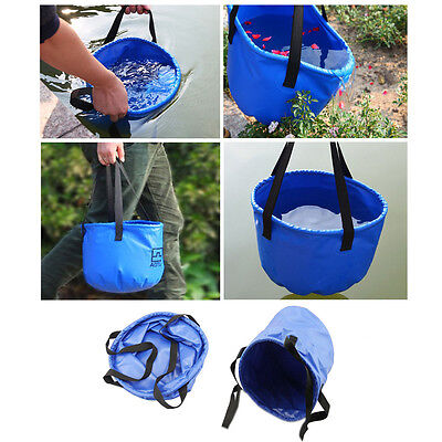 Outdoor Backpacking Water Bucket Folding Hydration Bag 12L Camping Hiking Bags