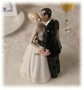 Interracial bride and groom cake toppers theme, will