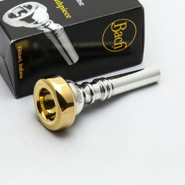 10-1//2DW 24K Gold Rim /& Cup Bach Cornet Mouthpiece
