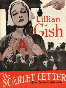 THE-SCARLET-LETTER-Rare-1926-Silent-Film-LILLIAN-GISH-Movie-Herald-LARS-HANSON
