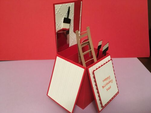 Hand made personalised pop up card decorators theme