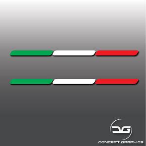 2x-Italy-Italian-Flag-Stripe-Euro-Car-Window-Bumper-Dash-Vinyl-Decal-Stickers