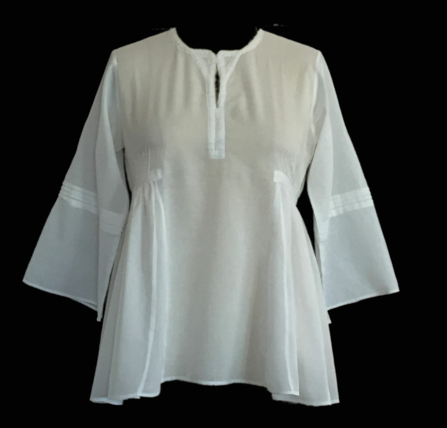 Anokhi White Sufi Blouse, 100% Organic Cotton