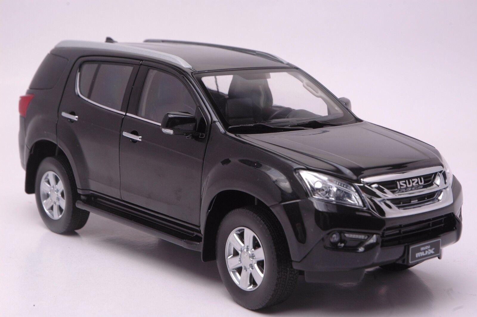 ISUZU MU-X véhicule utilitaire sport modèle à l'échelle 1 18 Noir