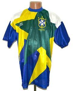 BRAZIL NATIONAL TEAM 1991/1994 TRAINING FOOTBALL SHIRT JERSEY UMBRO SIZE L