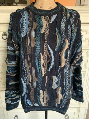 Vintage 90's COOGI Sweater Abstract Crew Neck Mult