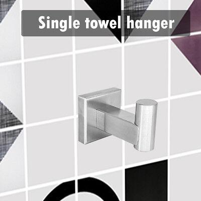 Single Towel Clothes Hanger Lavatory Bathroom Accessory Hook Robe Wall Mounted