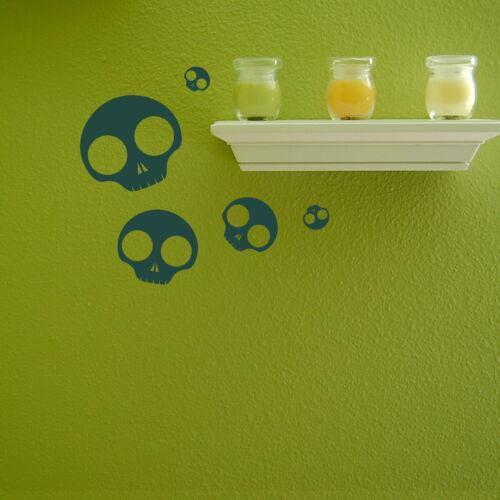 Transfer Skull Graphic Decal Decor Sticker Art Stencils Skeleton Wall Stickers