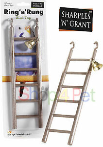 Bird-Ladder-Toy-FOR-CAGE-with-Bell-Budgie-Parakeet-Cockatiel-PET-12-Inch-Plastic