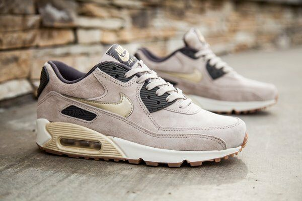 NIKE AIR MAX 90 PRM SUEDE 818598 200 WOMEN'S RUNNING SHOES