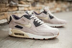 a57314ed57b2 NIKE AIR MAX 90 PRM SUEDE 818598 200 WOMEN S RUNNING SHOES
