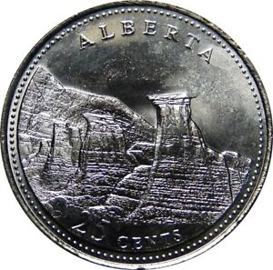 1992-Canada-125th-Alberta-25-Cents-Gem-BU-UNC-Quarter