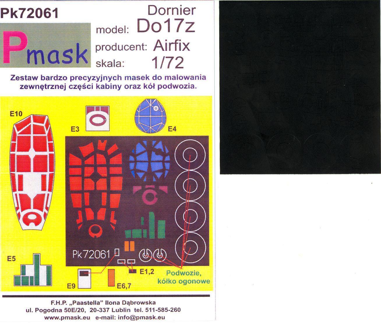 AIRES 7330 Wheels /& Mask for Airfix® Kit Dornier Do17 in 1:72