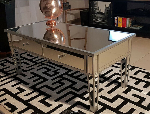 Mirrored Coffee Table Modern Mirror, Used Mirrored Tables