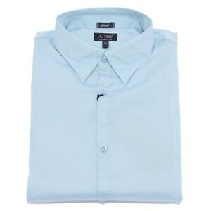 new style a3950 a375e Details about 7130U camicia uomo ARMANI JEANS FITTED shirt men