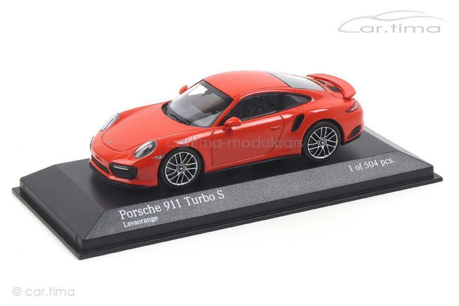 Porsche 911 (991 II) Turbo S-lavaNaranja-Minichamps 1 43 - 410067171