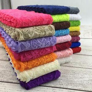 9-5Y-8CM-Elastic-Lace-Trim-Ribbon-By-the-Yard-Stretch-Ribbon-Headbands-Clothing