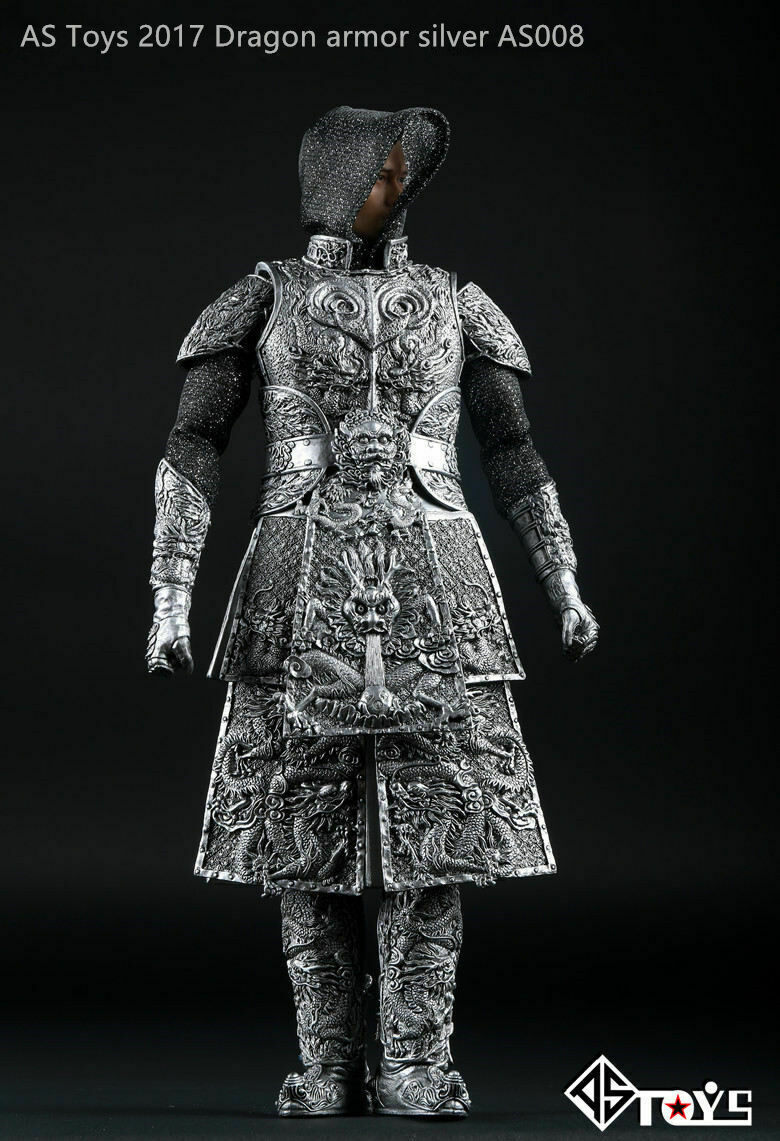 1 6 Scale AS Toys Ancient General Knight Armor Sliver AS008 F 12  Action Figure