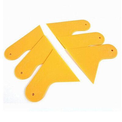 Precision Car Stickers Scraper Plate Yellow and Orange Plastic Film Tools WKAU