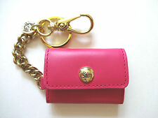 New Ralph Lauren Polo French Leather Pink Photo Holder Key Chain
