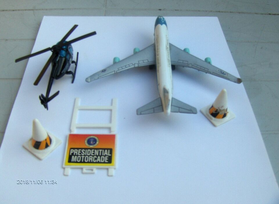MODELFLY AIR FORCE ONE, BOING 747, HELIKOPTER+TILB